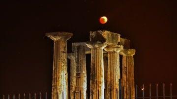 Eclipse lunar de 2018 en Grecia