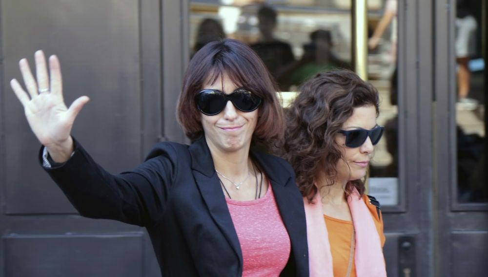 Juana Rivas a la salida del Juzgado