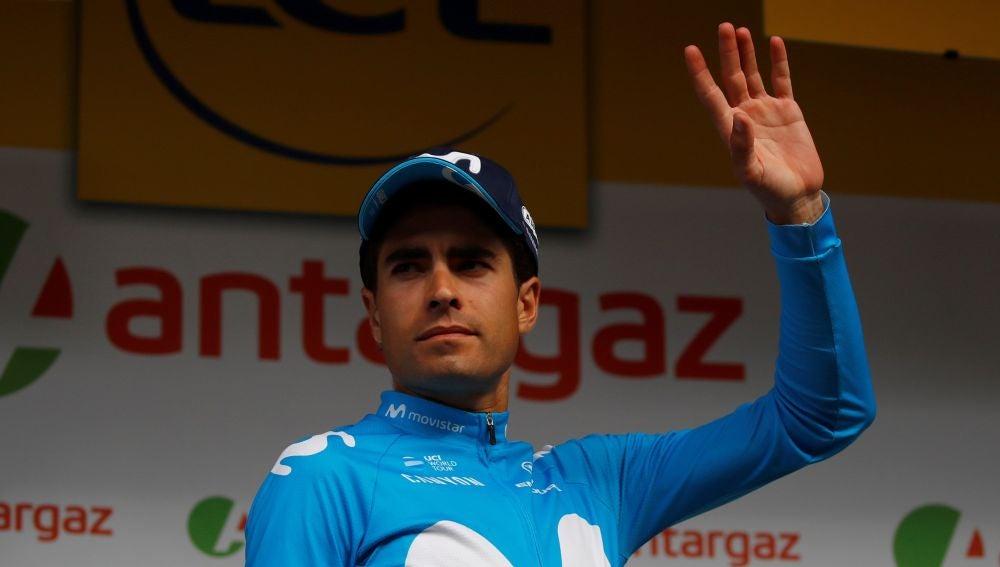 Mikel Landa del equipo Movistar