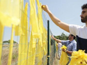 Cs retira lazos amarillos en Catalunya