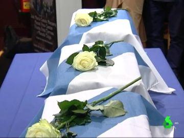 Los restos de cuatro víctimas del Franquismo
