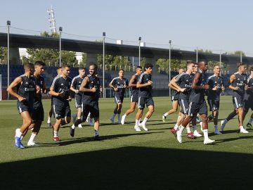 Isco, entrenándose con el Real Madrid