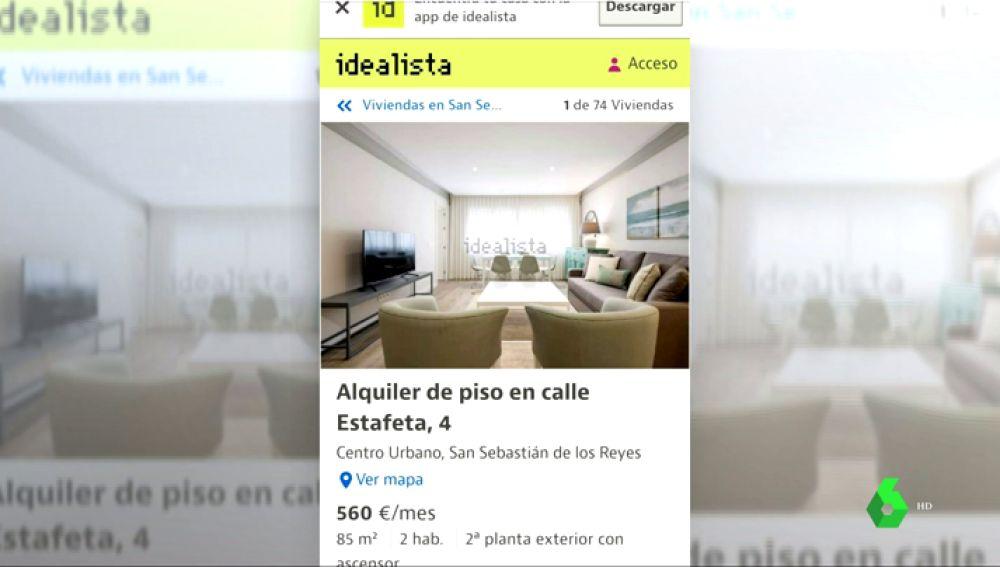 Portal inmobiliario Idealista