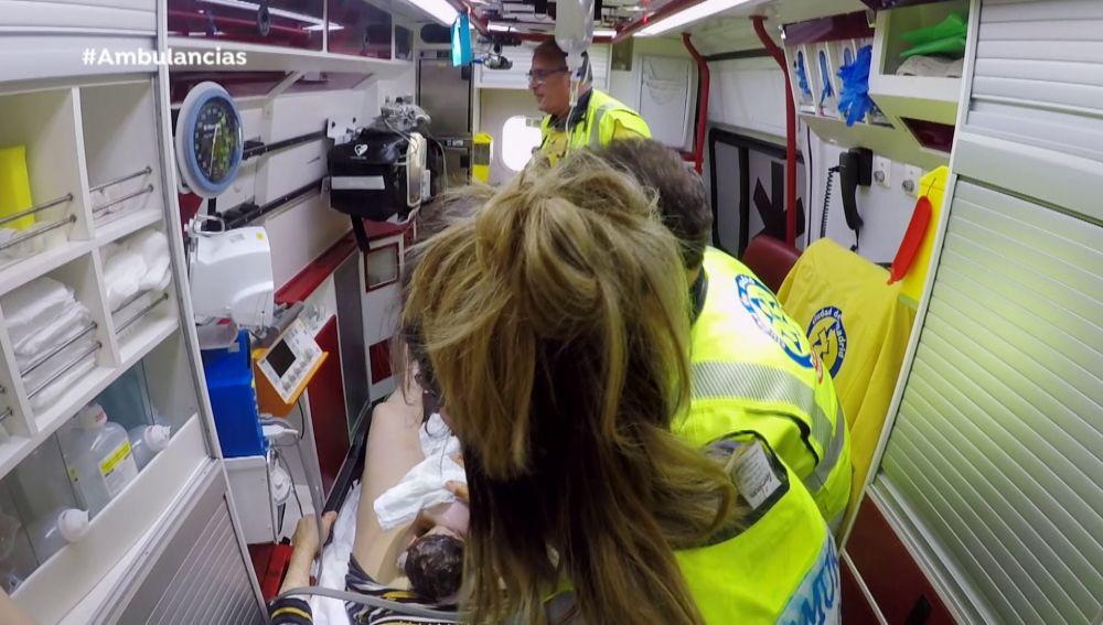 La llegada al mundo de un bebé, en Ambulancias