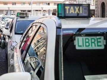 Foto de archivo de un taxi