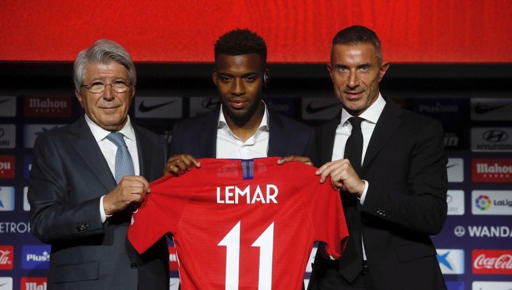 Lemar, presentado como jugador del Atlético