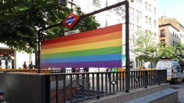 En la imagen parada de metro de Chueca en Madrid