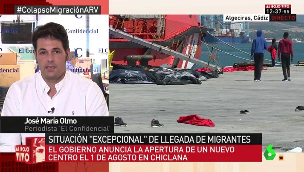 """José María Olmo: """"Los vecinos con su solidaridad están contribuyendo a poder acoger a los migrantes"""""""