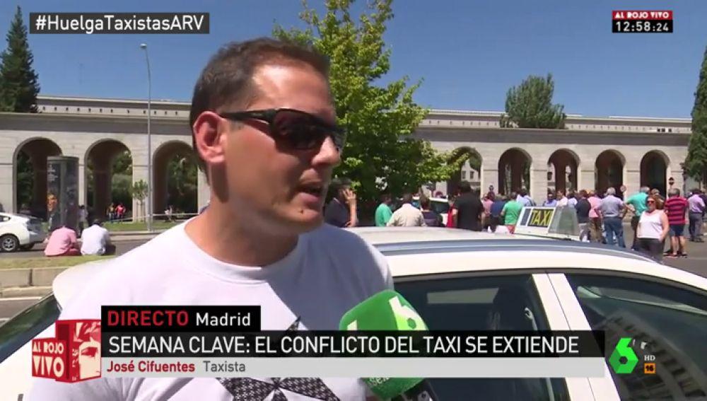 """José Cifuentes, taxista de Madrid: """"Hay que pagar pensiones, Sanidad, Educación… nosotros contribuimos y ellos no"""""""