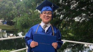 Imagen del niño graduado