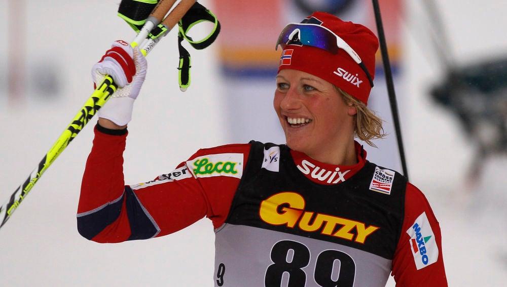 La esquiadora noruega Vibeke Skofterud