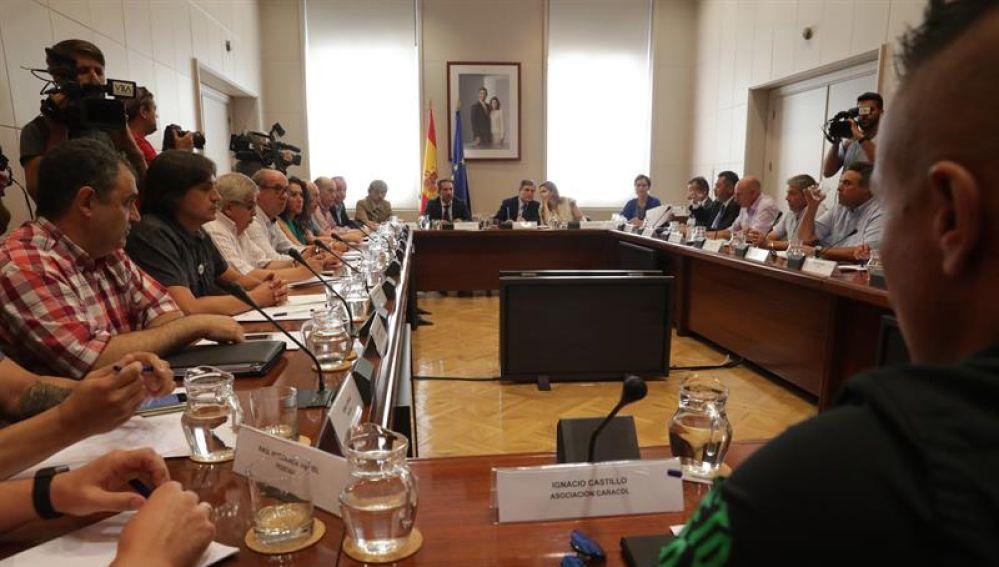 Reunión del Gobierno con los representantes del sector del taxi
