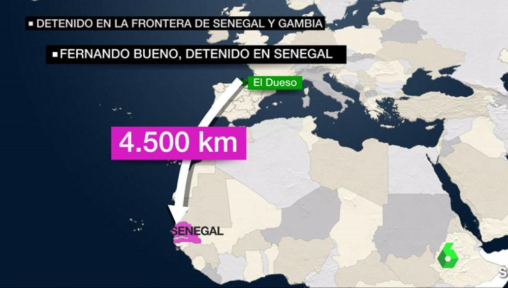 Localizado tras recorrer 4.000 km: el preso fugado de El Dueso pasará la noche una prisión senegalesa