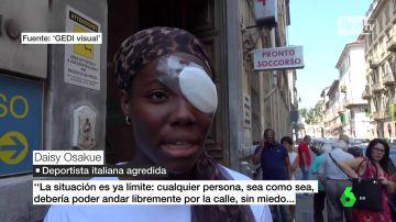 """Presunto ataque racista a una atleta de origen africano en Turín: Daisy Osakue asegura que fue agredida por unos """"cobardes"""""""