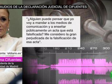 Declaración de Cifuentes ante la juez