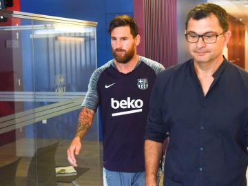 Messi vuelve a los entrenamientos con el Barcelona