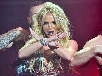 Britney Spears durante un concierto