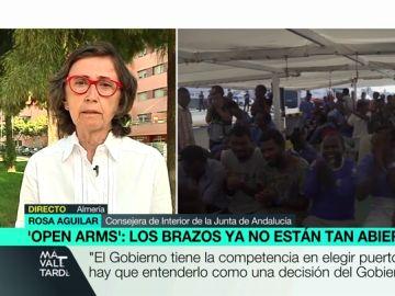 """Rosa Aguilar, sobre las llegadas de migrantes: """"El Gobierno anterior nos advirtió de que esta situación se iba a producir. El PP lo conocía"""""""