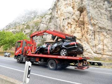Accidente entre un turismo y un camión en el kilómetro 306 de la carretera N-I, en Pancorbo (Burgos) con cinco fallecidos