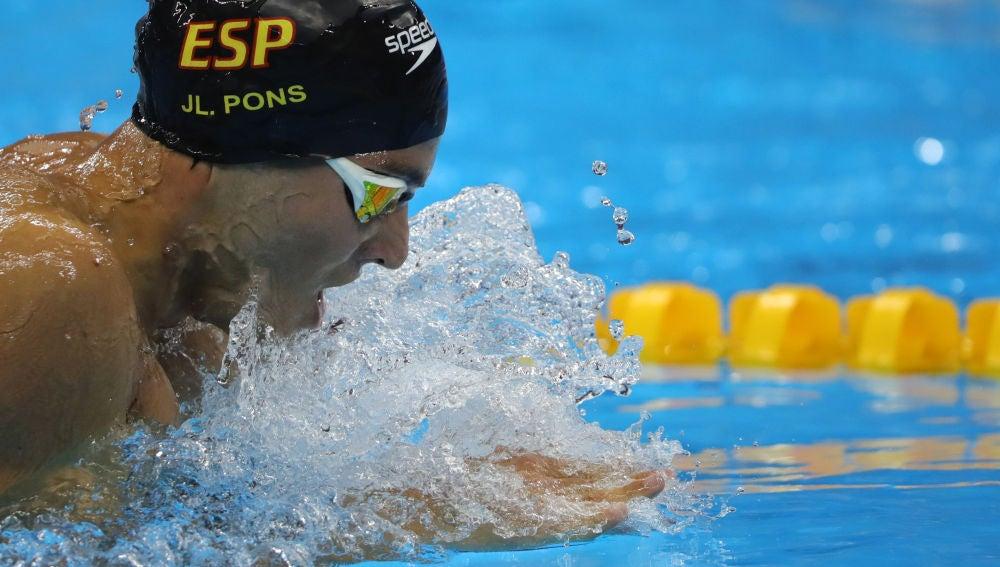Joan Lluis Pons en los Europeos de natación
