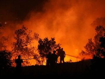 Imagen del incendio del Algarve, en Portugal