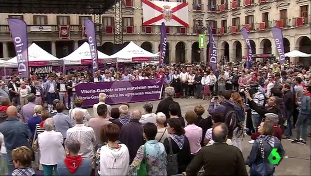 Manifestación en Vitoria contra la violencia machista