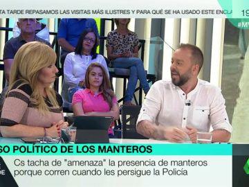 """Intenso debate entre Mayte Alcaraz y Antonio Maestre por la situación de los manteros: """"El PP y Cs están azuzando el fascismo"""""""
