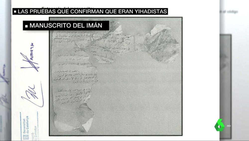 """Estos son los manuscritos del iman de Ripoll que encontraron en Alcanar: """"La Yihad es un deber obligatorio"""""""