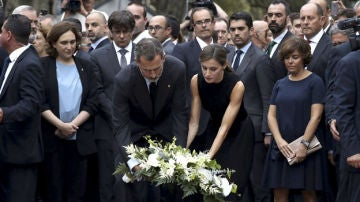 Los Reyes en el homenaje a las víctimas de los atentados de Barcelona y Cambrils en 2017