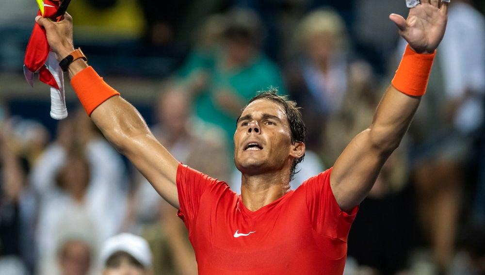 Rafa Nadal tras ganar a Wawrinka
