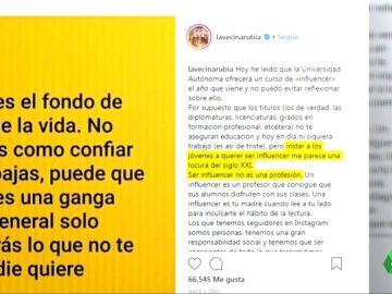 """Los influencers cargan contra el curso de la Autónoma de Madrid para ser influyente en redes: """"No es una profesión"""""""