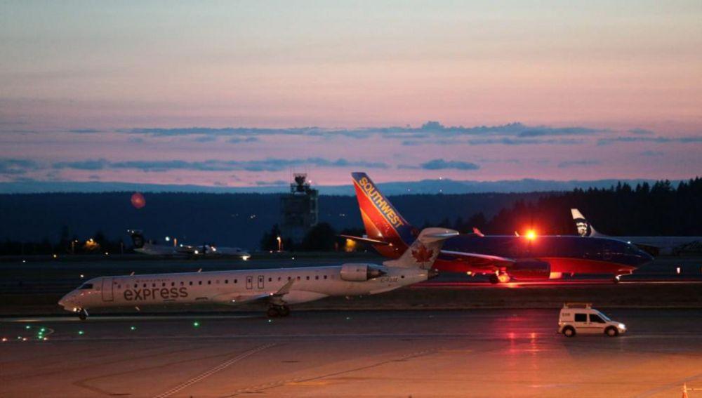 Avión de la compañía Alaska Airlines