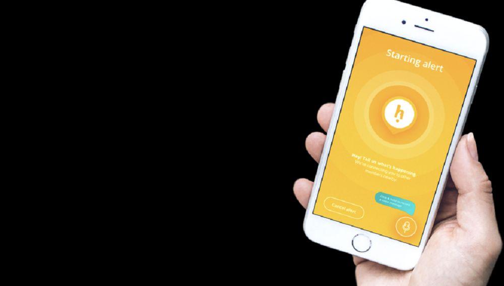 Imagen de la aplicación gratuita para ayudar a personas en situación de peligro