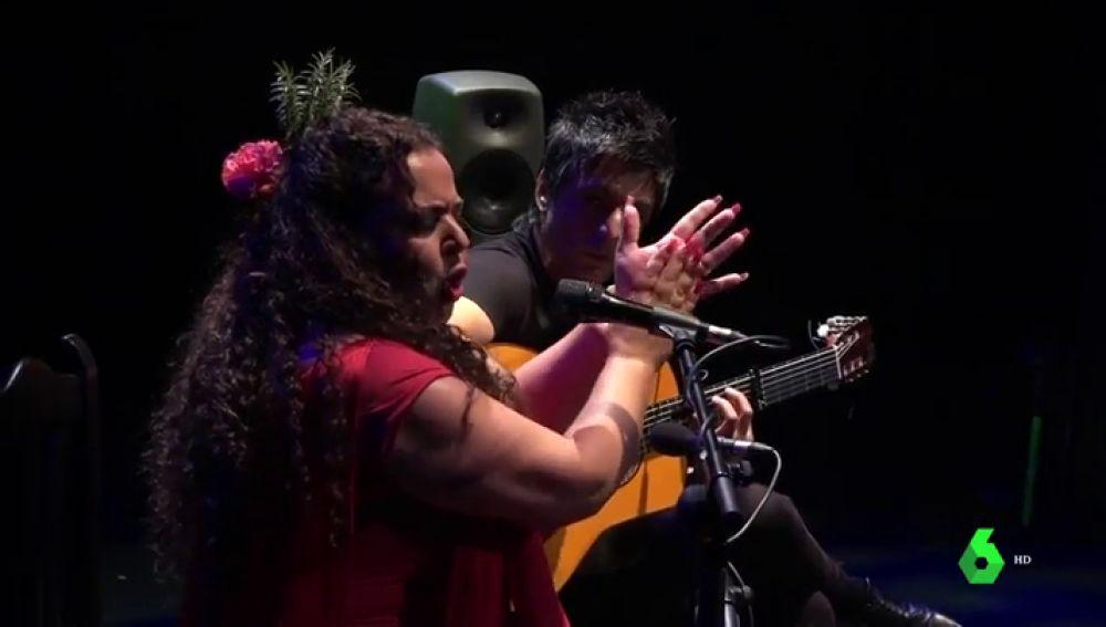 María Carrasco ha ganado la Lámpara Minera en el 'Festival del Cante de las Minas'