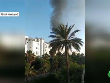 Fuerte explosión en Puerto Banús provocada por el motor de un coche