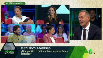 El 'politicolegómetro' de Kira Miró, Daniel Guzmán, Alex Barahona y Miren Ibarguren: ¿con qué políticos se irían de cañas o tendrían un 'match'?