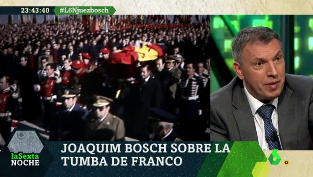 """El juez Joaquim Bosch: """"Una sociedad democrática no puede construirse con muertos en las cunetas y glorificando a un dictador"""""""