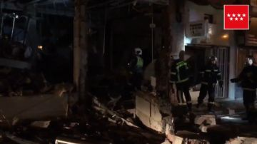 Imagen del restaurante de comida china destruido en Pozuelo