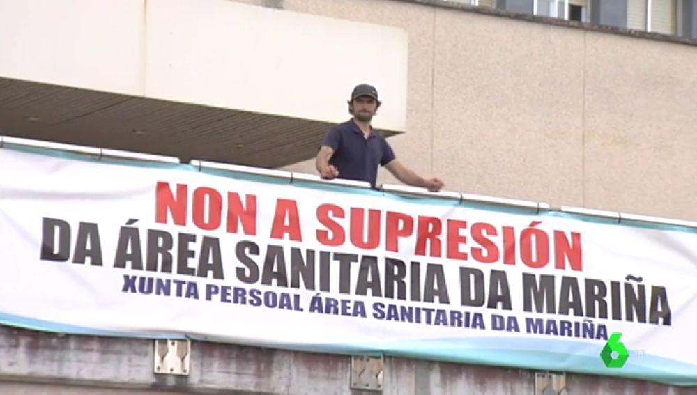 Imagen de un paciente gallego que pide que se mejore la Sanidad Pública