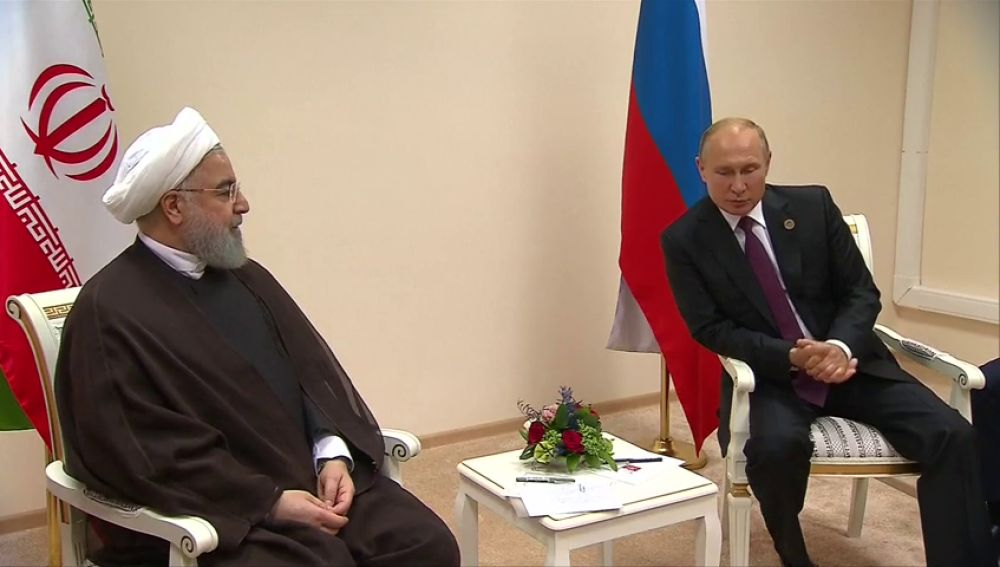 Putin y Rohaní destacan la cooperación de sus países en Siria