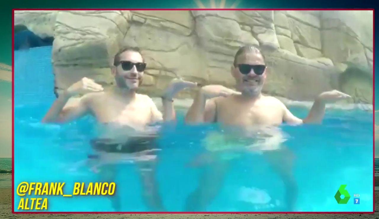 Frank Blanco y Miki Nadal en VacacionesZapeando