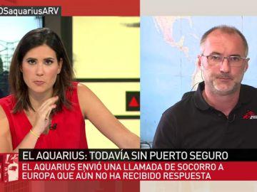 """David Noguera, sobre el nuevo rescate del 'Aquarius': """"Empezamos a sentir fatiga por encontrar tantos obstáculos para realizar nuestra labor"""""""