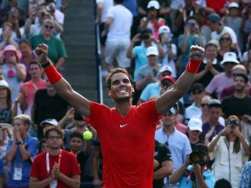 Rafa Nadal celebrando una victoria