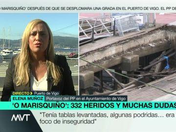 """Elena Muñoz asegura que el Ayuntamiento es el culpable del accidente en el O Marisquiño: """"¿Por qué se autoriza un evento encima de un paseo con signos de deterioro?"""
