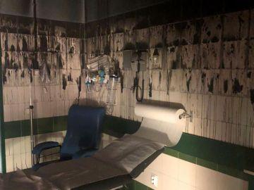 El estado en que quedaron las urgencias pediátricas del Hospital de la Candelaria