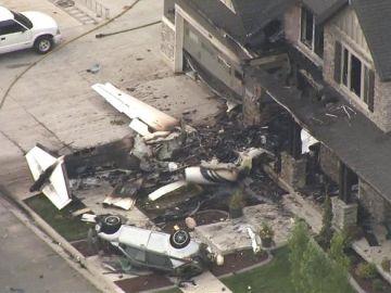 Avioneta estrellada en un domicilio de Utah