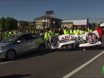 Nuevo corte en la N-1 de Burgos para exigir la liberalización inmediata de la AP-1