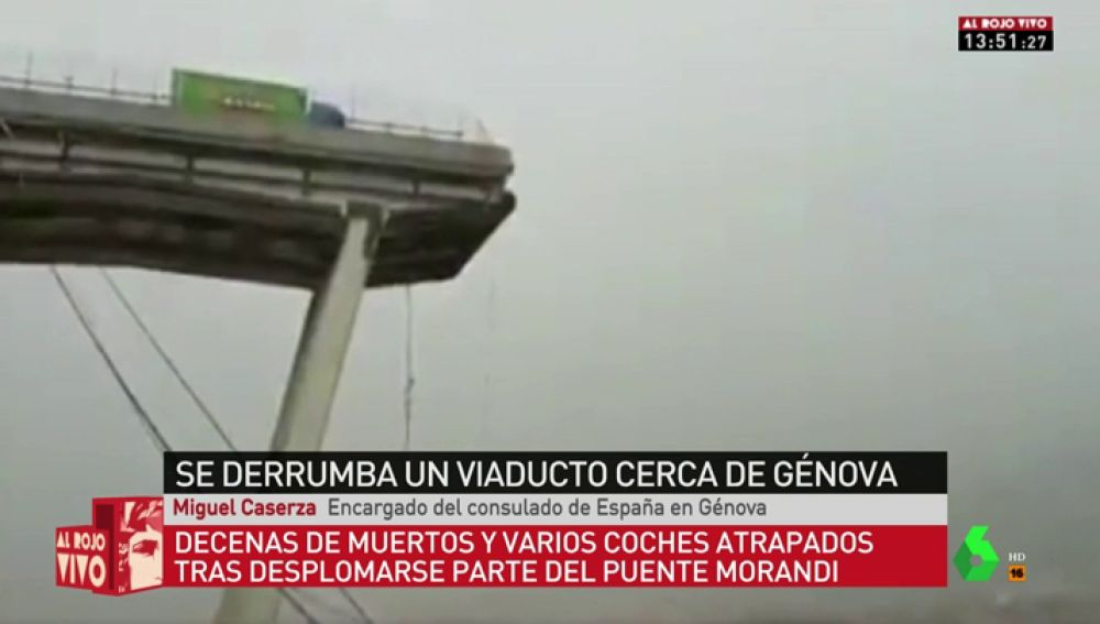 """Miguel Caserza, encargado del consulado de España en Génova: """"Dicen que hay unos diez muertos, pero seguramente sean muchos más"""""""