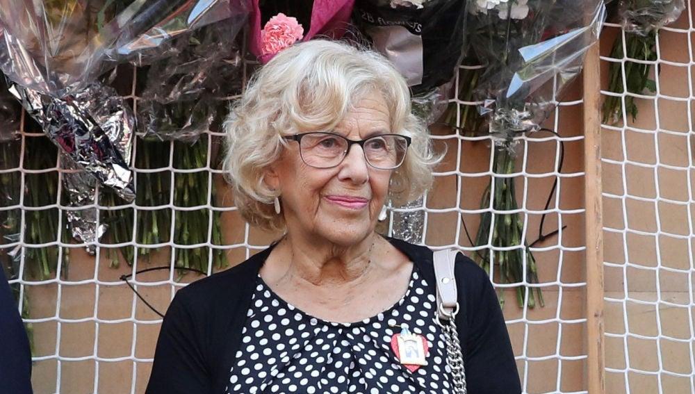 Manuela Carmena en un acto en Madrid