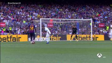 El zurdazo de Malcom ante Boca Juniors para estrenarse como goleador en el Camp Nou